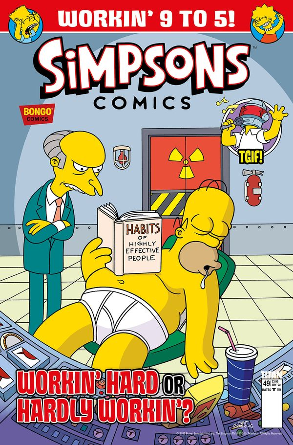 The Simpsons Magazine Cover